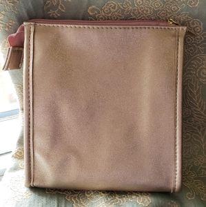 FREE W/ PURCHASE New Sephora Rose Gold Makeup Bag